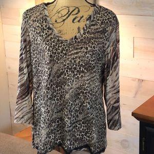 Chico's animal print blouse. 3 (XL/16)
